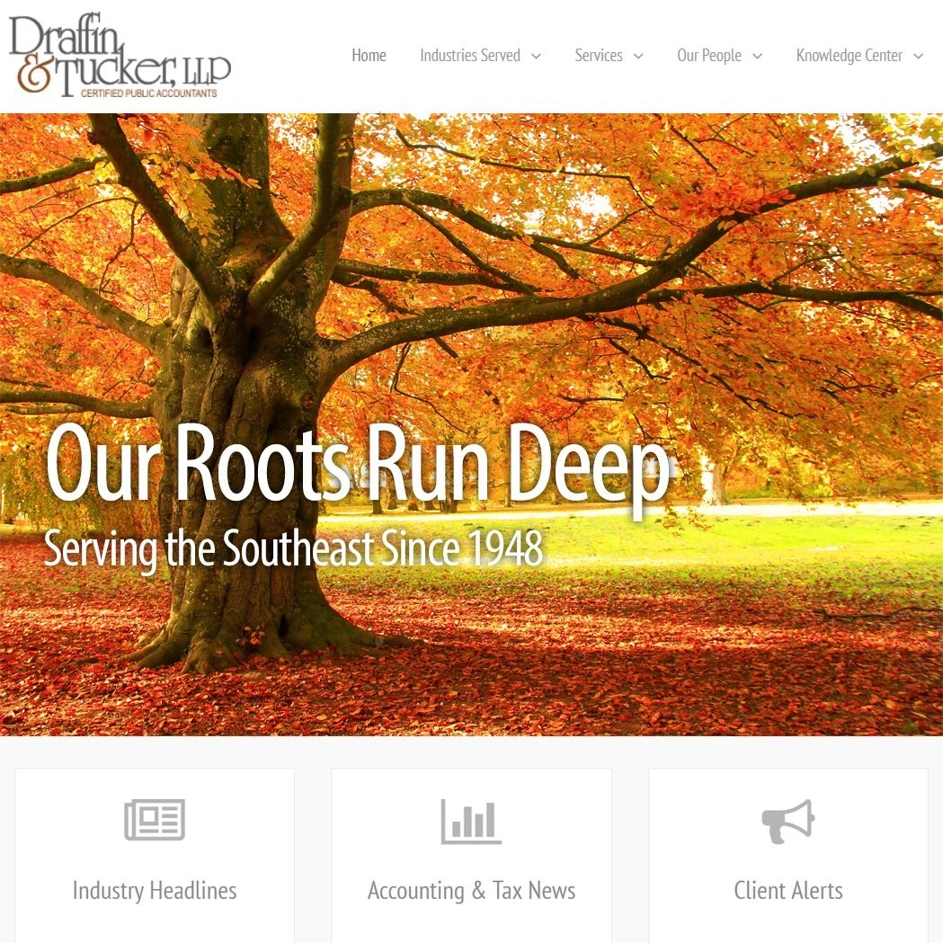 Website Design Corporate Design for Johns Creek Accounting Firm
