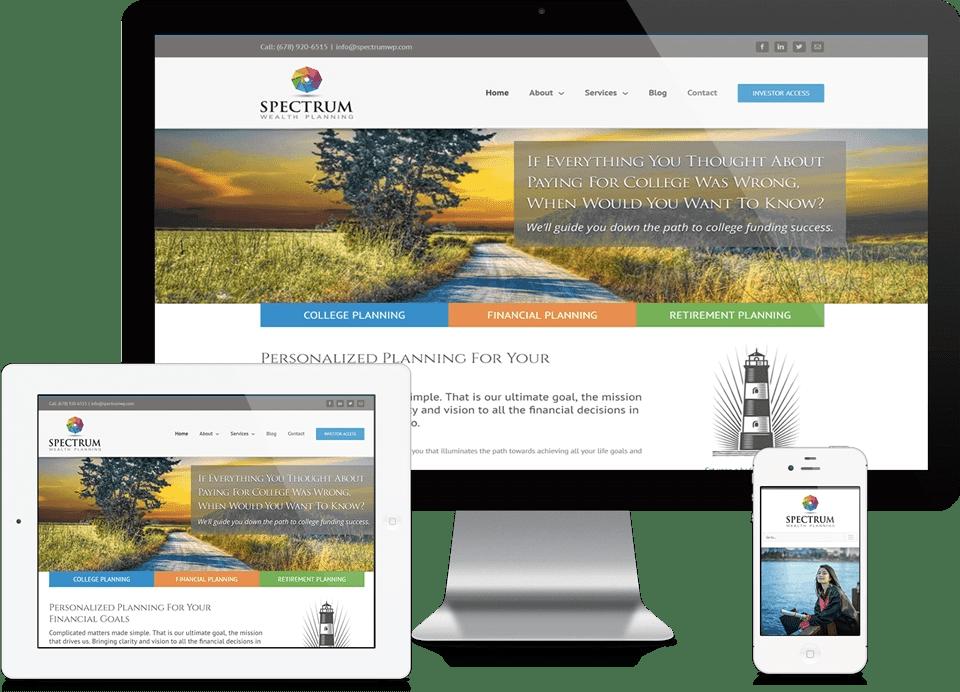 Johns Creek Financial Services Company Website - Spectrum Wealth Planning Website Design