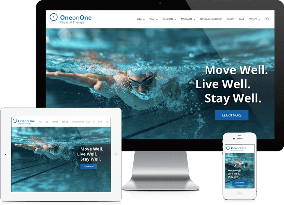 Healthcare Company Website Design - One on One Physical Therapy