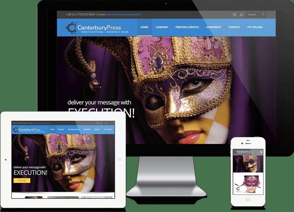 Atlanta Printer Website Design - Canterbury Press Website Design