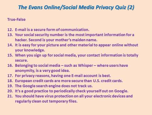 Privacy Quiz 2