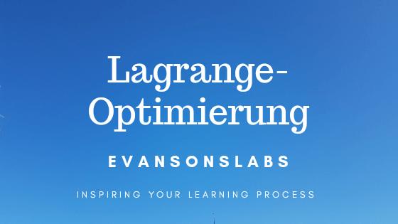 Lagrange-Optimierung