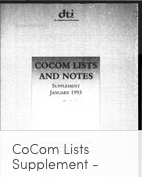 CoCom 1993 List Supplement