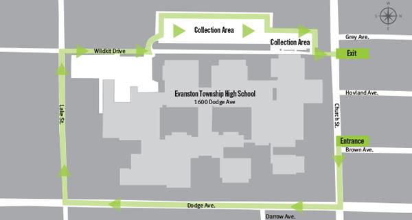 Evanston Recycles 2019 map