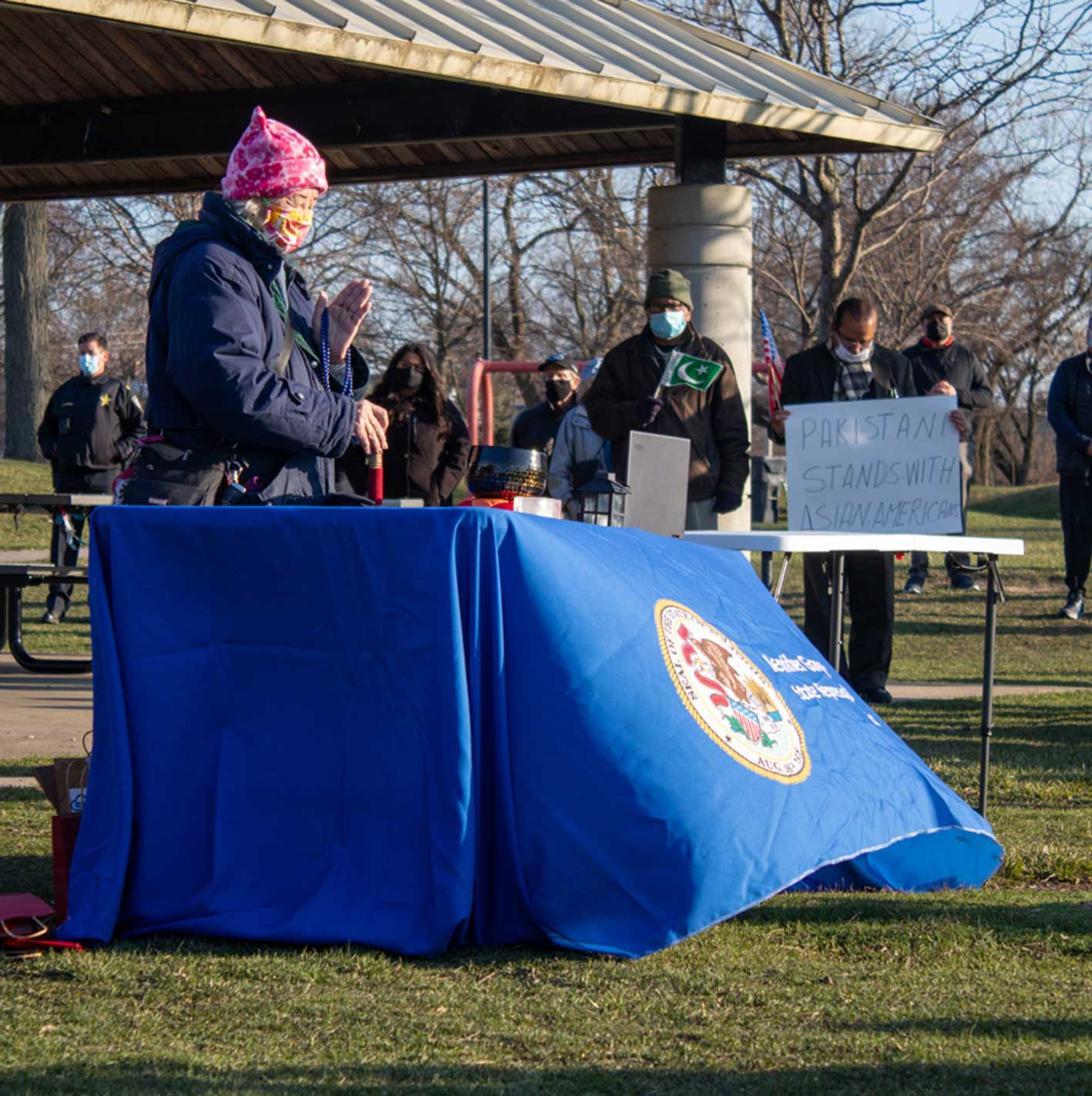 evanstonroundtable.com: Vigil in Solidarity with Asian Americans at Lovelace Park Attracts 150