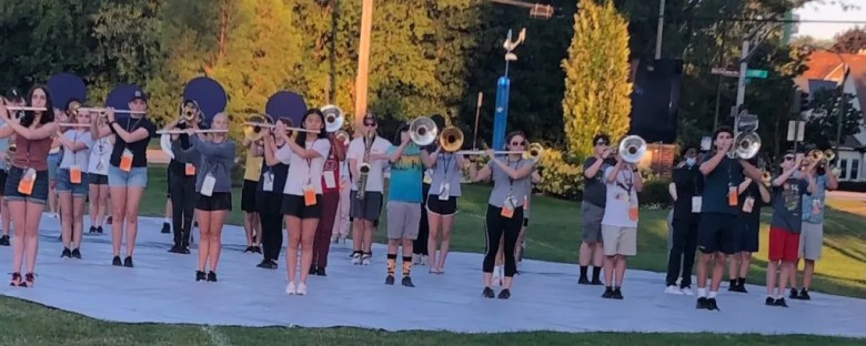 ETHS band outdoors
