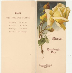 President's Day Program, 1907