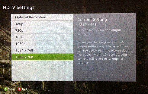 Ideal Hdtv Settings For Xbox 360 Snax