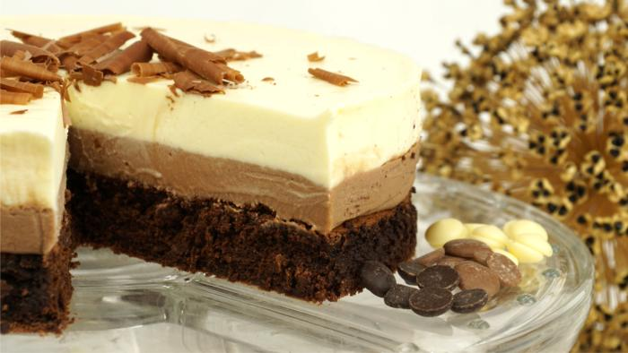 Schokoladentorte Triple Chocolate Mousse Cake