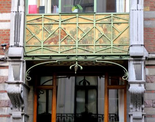 Balcon Sgraffite Art Nouveau
