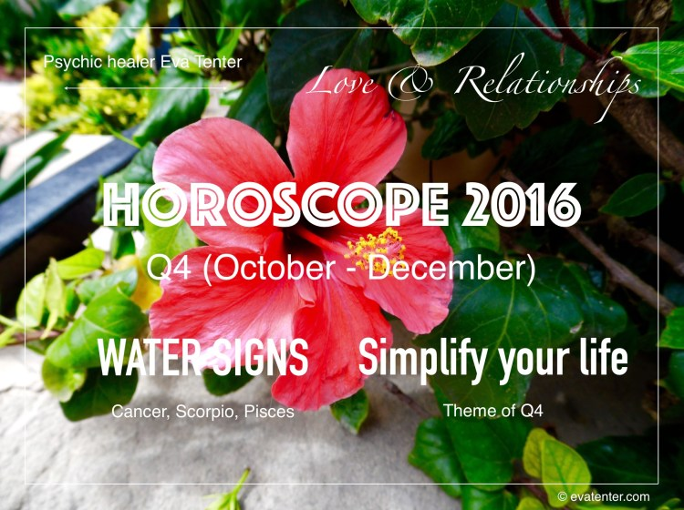 love relationships horoscope q4 2016 water signs