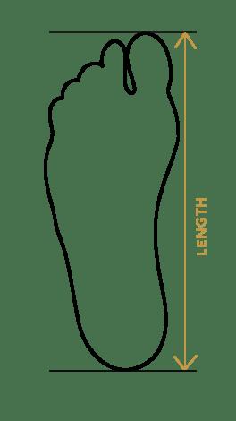 cum măsori talpa piciorului