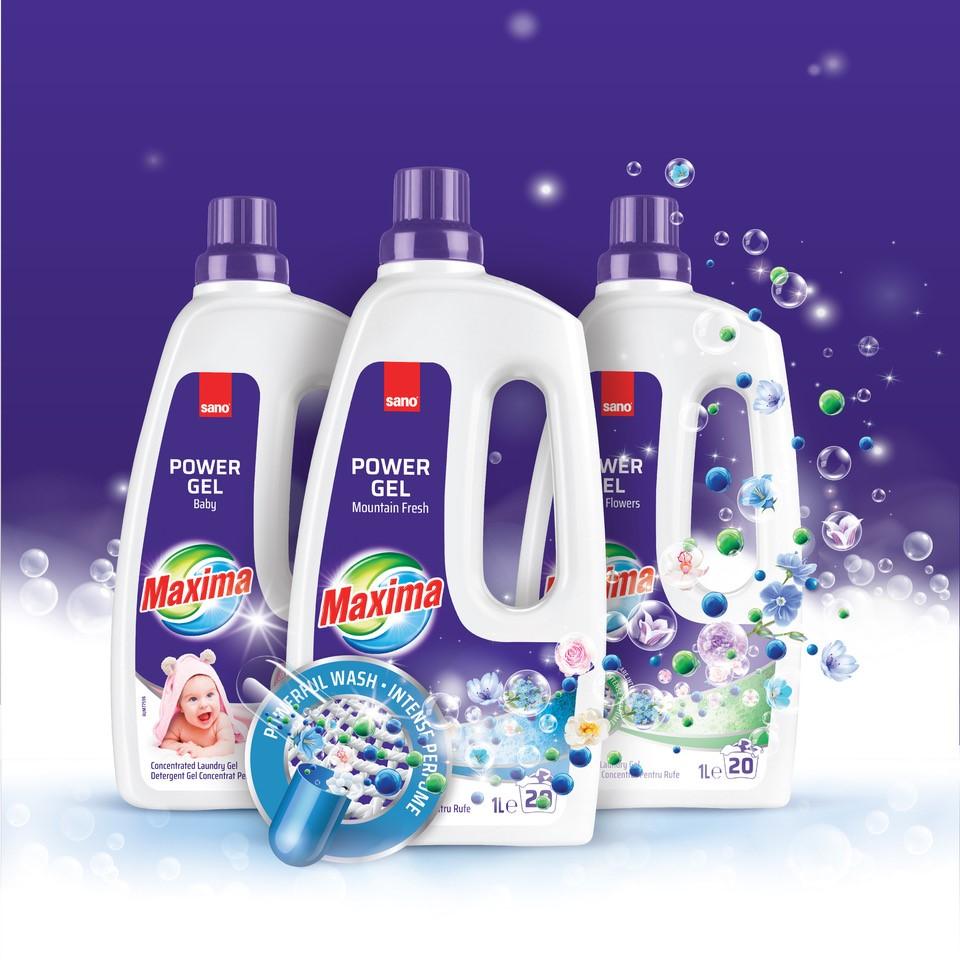 Detergentul de rufe pudră și gel SANO MAXIMA – Comunicat