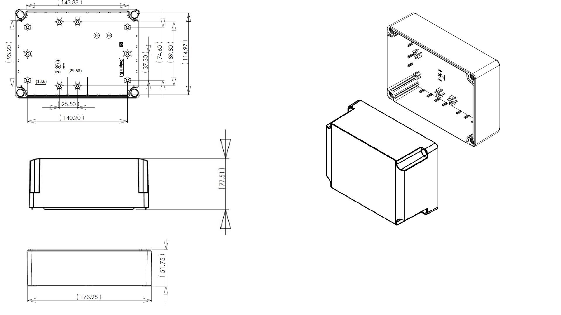 Dn16e Junction Box Dn Series Ip66 Enclosures