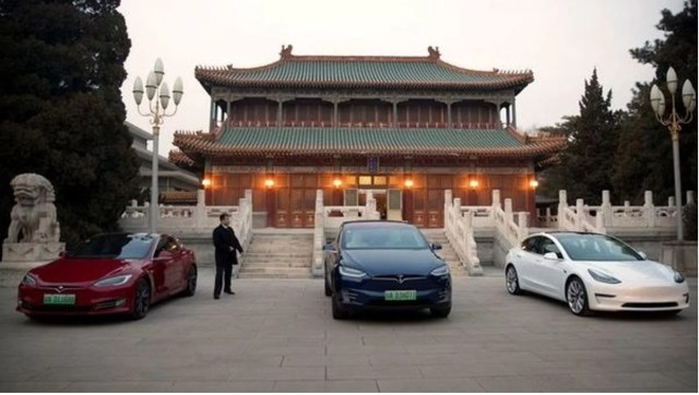 Different Tesla Models in China