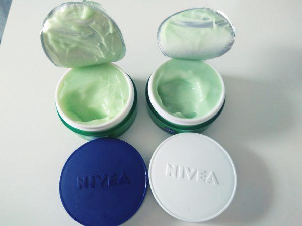 NIVEA, Essentials Urban Skin Defence y Detox , tarros abiertos