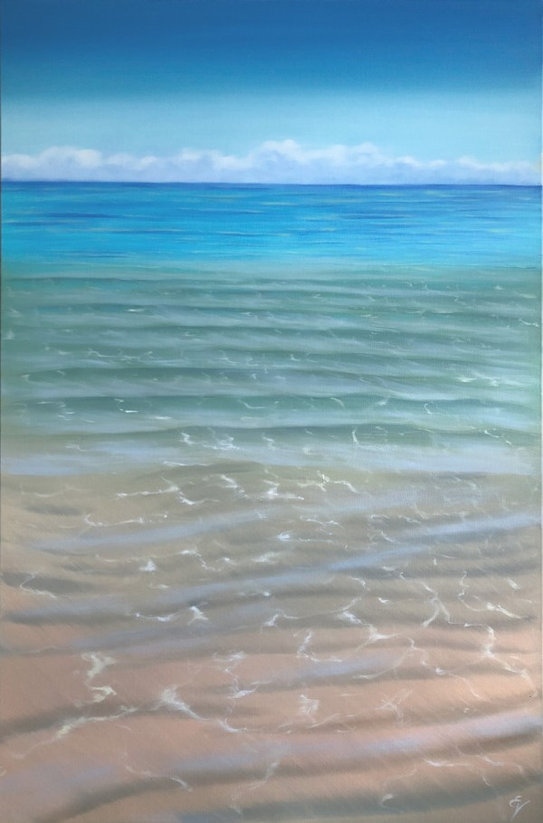 Original Crystal Clear Tropical Beach Painting