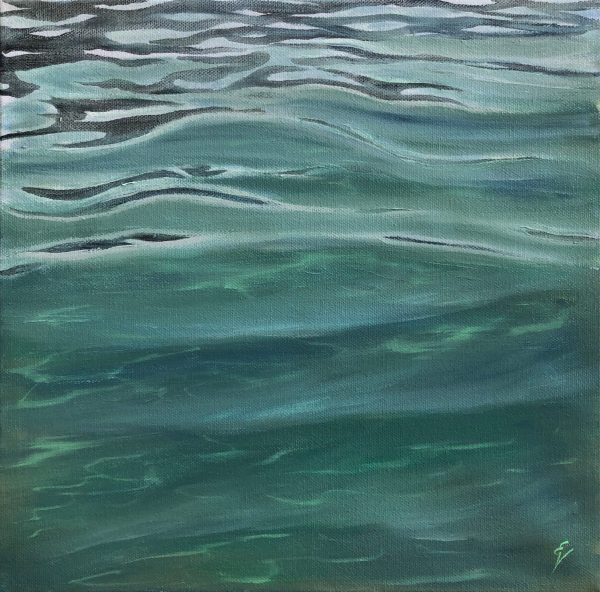 Original Crystal Clear Tropical Water painting - Ocean in Your Eyes