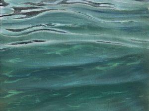 Original Crystal Clear Tropical Water painting - Ocean in Your Eyes