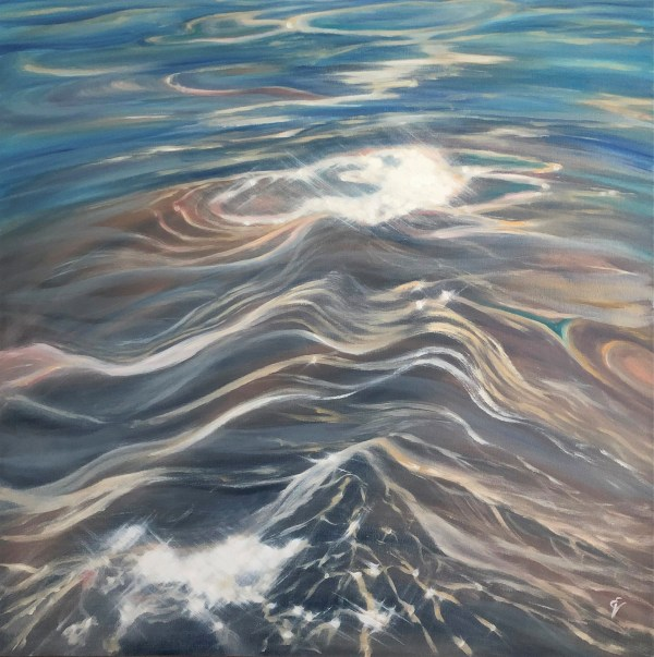 Large shallow water painting - The 3 S: Sun, Sand and Sea