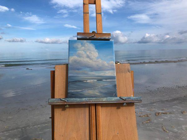 Original plein air beach painting