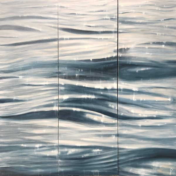 When The Sun Kisses The Sea - Original Contemporary Seascape Painting On Canvas