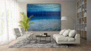 Beneath The Surface - large deep ocean painting