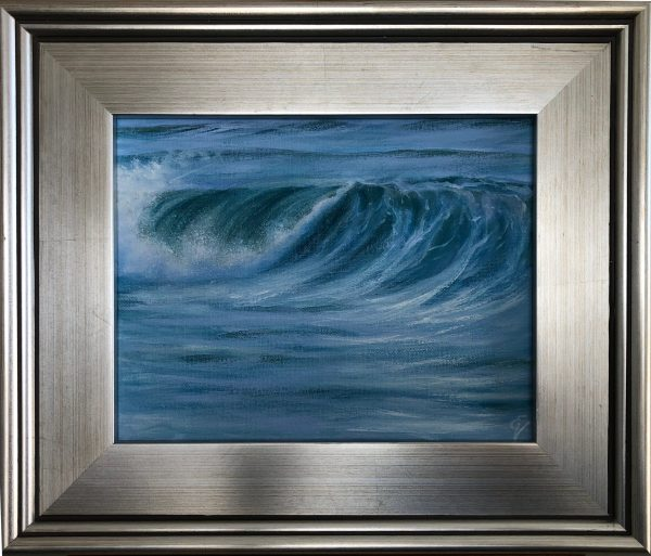 Breaking Wave - framed ocean wave painting