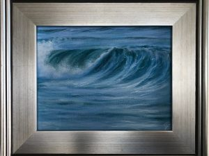 Breaking Wave - framed ocean wave painting