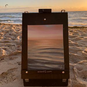 See You Tomorrow -plein air ocean painting