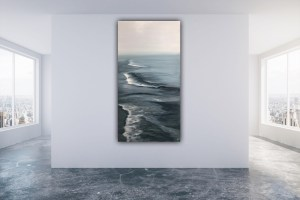 Silver morning - original ocean painting
