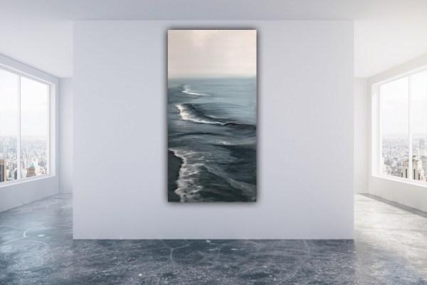 Silver morning - original ocean painting