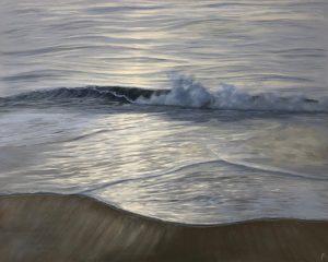 Original ocean at sunset painting