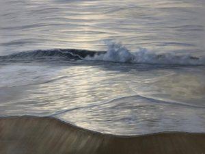 Original ocean at sunset painting