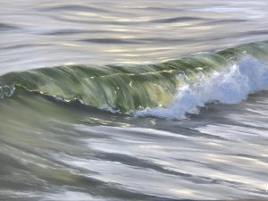 Realistic ocean wave painting - Spring Colors