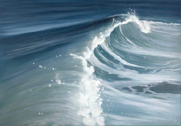 Rise and Fall - original ocean wave painting