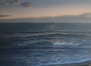 Commissioned seascape, oil on canvas