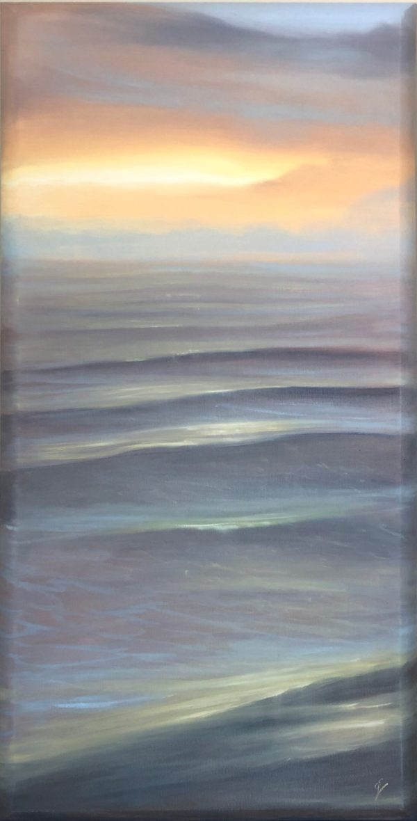 In Your Light - original sunrise over the ocean painting