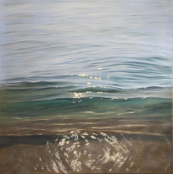 Gentle Caress - original crystal clear waters painting on canvas