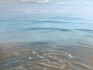 Fusion - original oil painting of the Gulf of Mexico