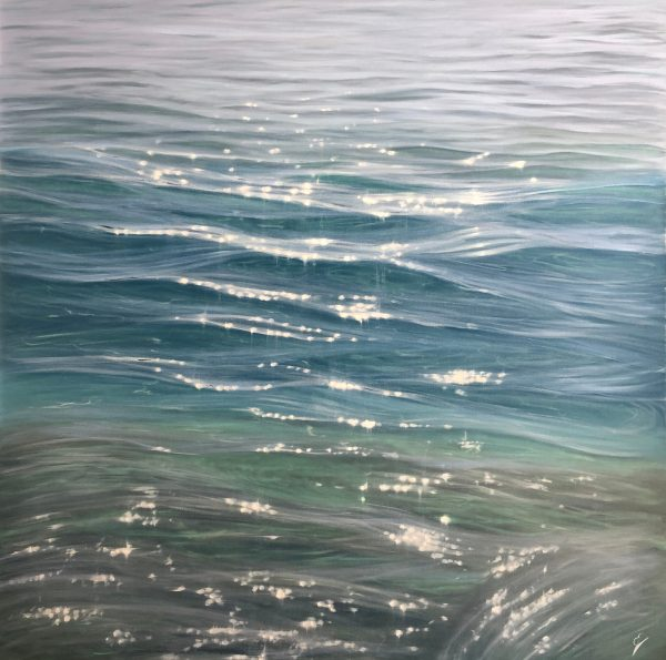Large original crystal clear water painting - Serenity