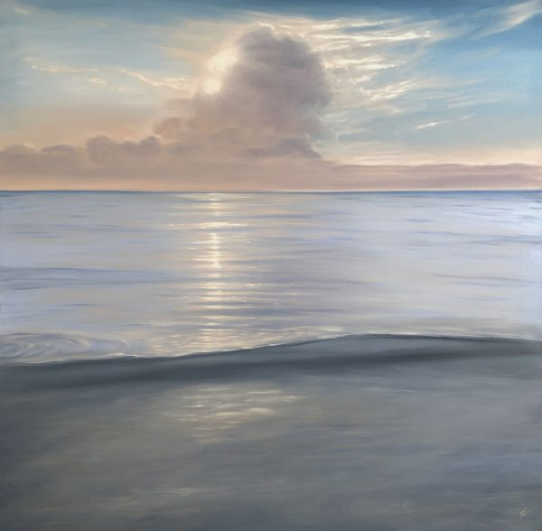 """See The Light - Large original painting of a beautiful sunset over the Gulf of Mexico """"See The Light"""""""