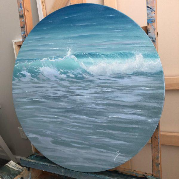Viva La Vita - realistic ocean wave painting