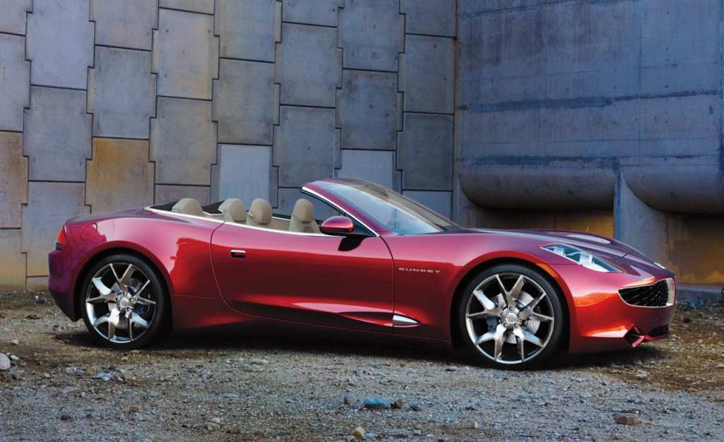 Fisker Electric Convertible Car
