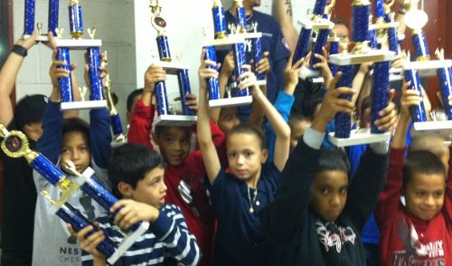 Local youth showcase their 2010 LES Pee Wee League awards