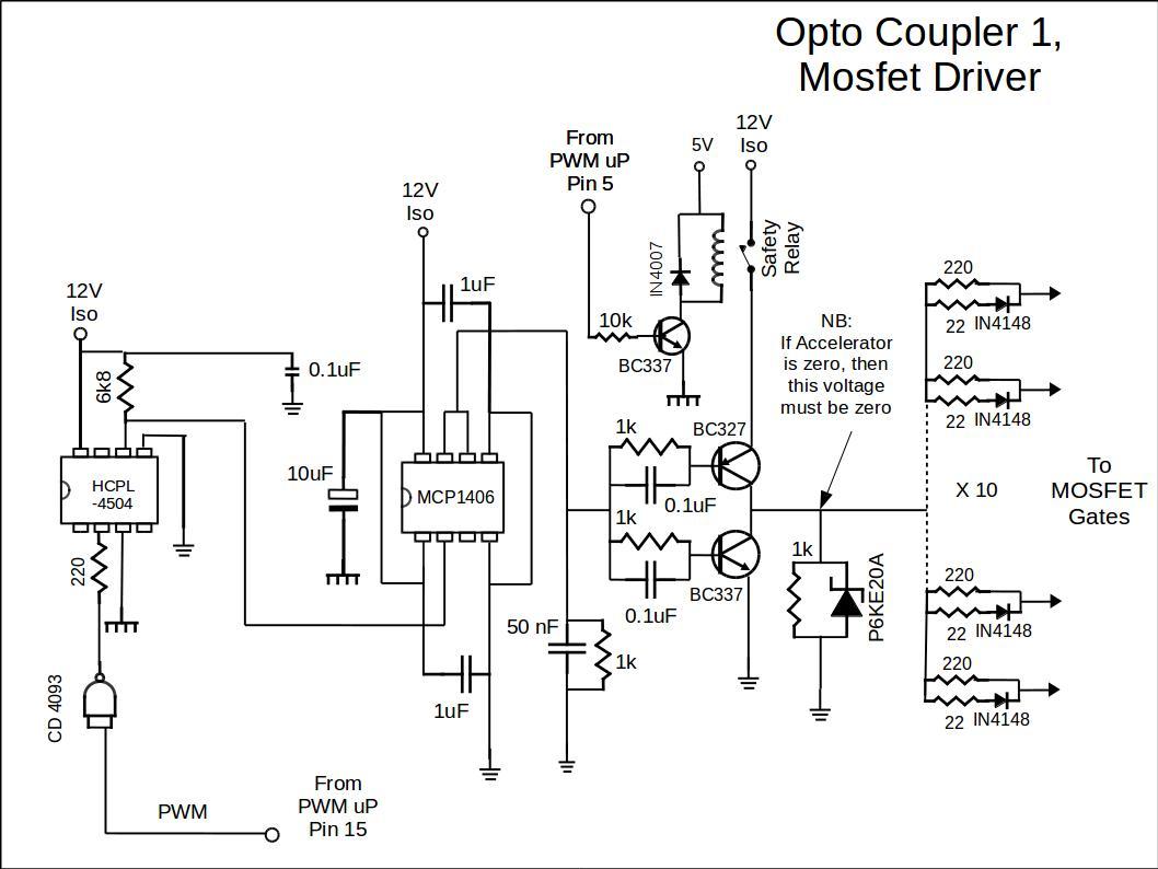Basic Controller Opto Coupler And Driver Circuit