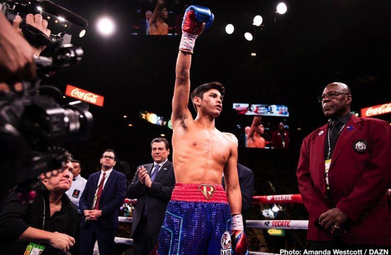 Ryan García al cine y pronto anuncio de próxima pelea