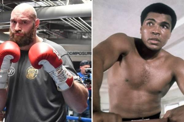 Tyson Fury & Muhammad Ali (Foto Cortesía)