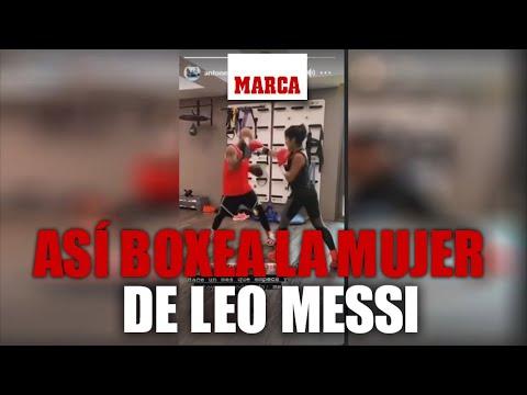 A ESPOSA DE LIONEL MESSI LE VA MUY BIEN EN EL BOXEO