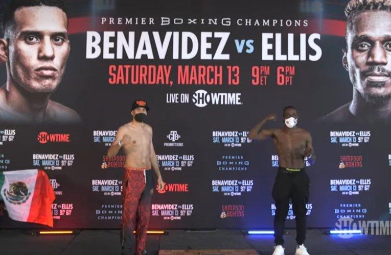 PESAJE OFICIAL: David Benavidez vs Ronald Ellis